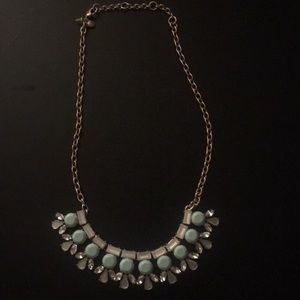 Cute Jcrew Mint and Gold Necklace